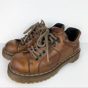 Dr. Martens AirWair Brown Leather Lace Up Oxfords